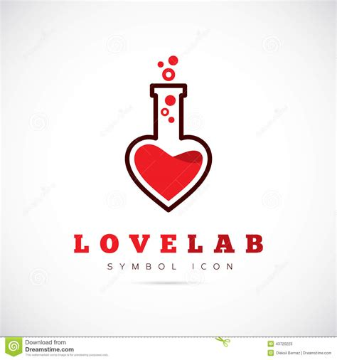 love laboratory abstract vector concept symbol stock