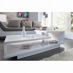 Table Basse Blanche Design : table basse design alice blanc laque ~ Preciouscoupons.com Idées de Décoration
