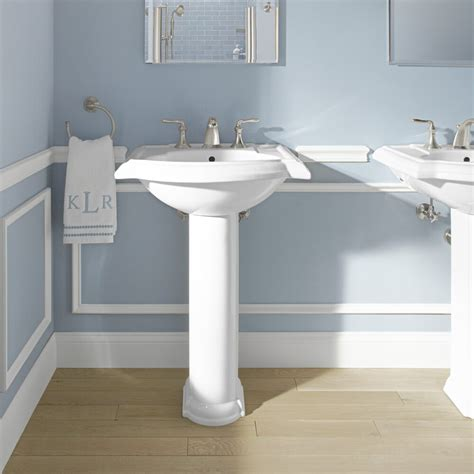 Kohler Bathroom Pedestal Sinks by Kohler Devonshire 24 Quot Pedestal Bathroom Sink Reviews