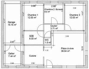 Scintillating plan d une maison de 100m2 contemporary for Superb plan d une maison en 3d 3 plan maison mitoyenne de plain pied ooreka