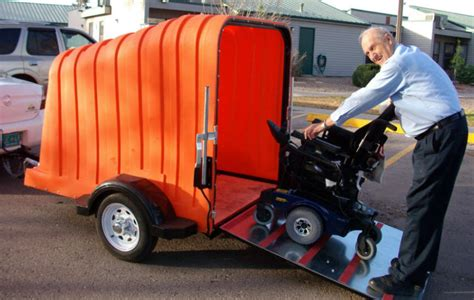 Tow Boat Mobility Scooter by Versa Mobility Wheelchair And Scooter Trailer