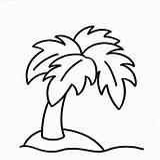 Tree Coloring Palmier Palm Coloriage Dessin Fat Imprimer sketch template