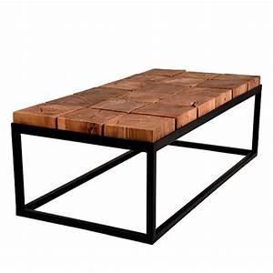 Table Basse Bois Et Mtal Industriel Brick Label 51 Drawer