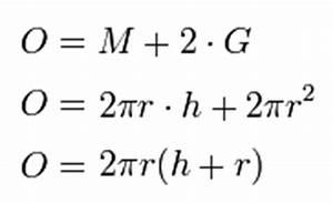 Zylinderoberfläche Berechnen : formel f r die zylinderoberfl che eselsbr cken und merks tze ~ Themetempest.com Abrechnung