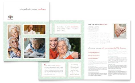senior care services brochure template word publisher