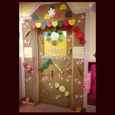 gingerbread house classroom door classroom door