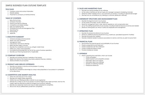 3 how to create a business plan: Free Business Plan Templates for Word   Smartsheet