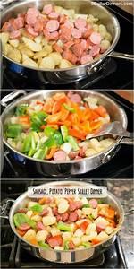 sausage potato pepper skillet dinner recipe stuffed