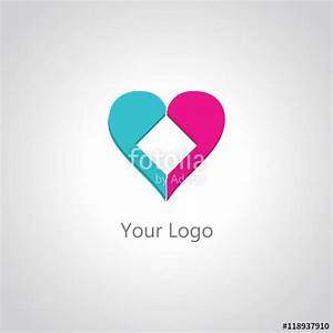 """""""square hearth logo"""" Stock image and royalty-free vector ..."""