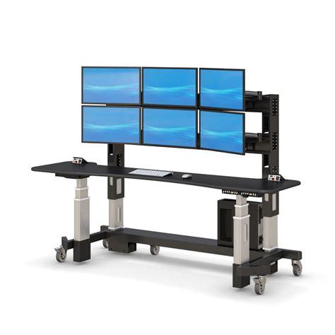 adjustable stand up desk adjustable sit stand up security desk afcindustries com