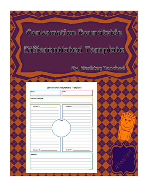 Conversation Roundtable Template by Literary Devices Posters By Uk Teaching Resources Tes