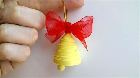 quilling paper christmas bell decoration