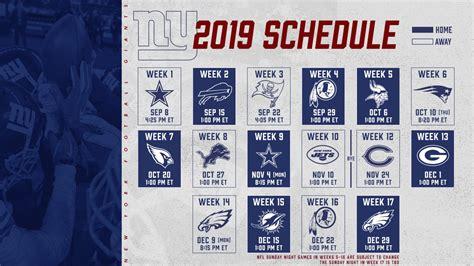 assessing   york giants regular season schedule