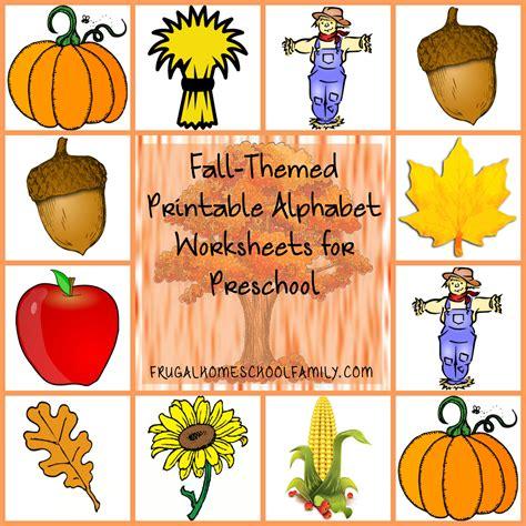 alphabet worksheets for preschool with a fall theme 312 | Fall Themed Printable Alphabet Worksheets for Preschool final2