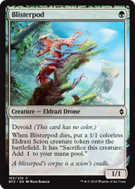 colorless eldrazi deck battle for zendikar blisterpod battle for zendikar gatherer magic the