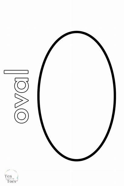 Oval Coloring Shape Printable Templates Colouring