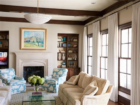 Beige Turquoise Living Room : Fresh Traditional Styled Home With Turquoise Accents