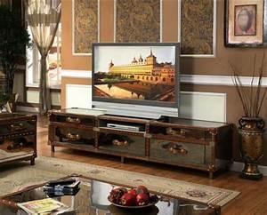 Meuble Tv Rustique : meuble tv vintage le manque de luxe est parfois le luxe m me ~ Nature-et-papiers.com Idées de Décoration