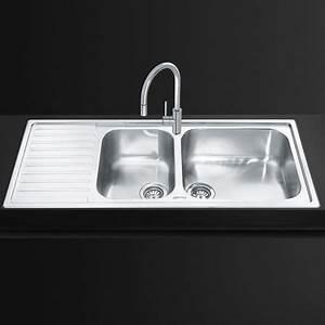 smeg lg116s 2 116cm alba stainless steel double bowl With alba sinks