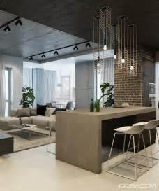 space around kitchen island design a chic modern space around a brick accent wall