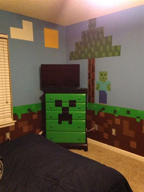 Minecraft Bedroom Drawers minecraft bedroom minecraft creeper chest of drawers with