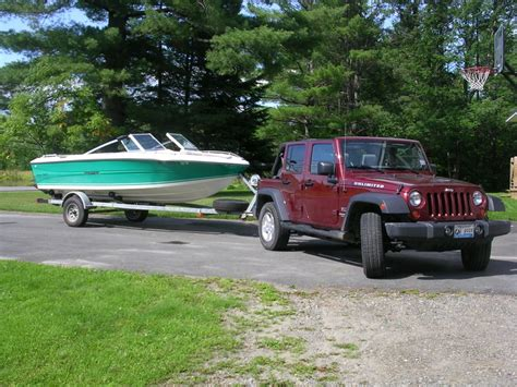 Tow A Boat With Jeep Wrangler Unlimited by Boat Tow