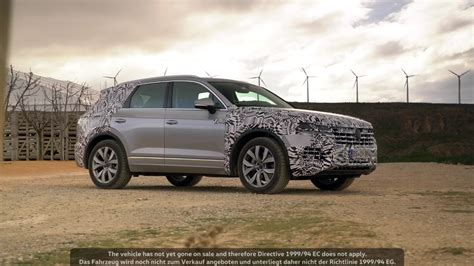 vw touareg shows  skin   teaser video vw