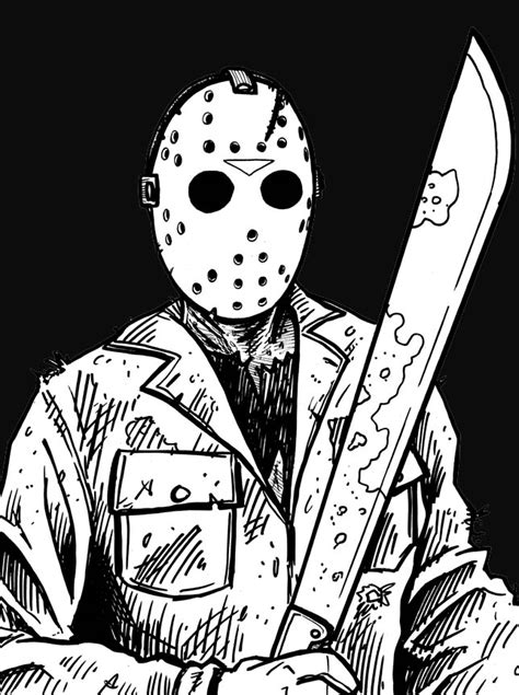 Jason Voorhees - Free Colouring Pages