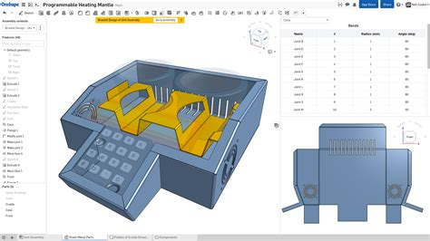 onshape sheet metal design tools announced digital