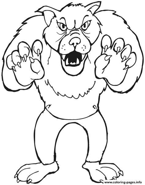En De Wolf Kleurplaat by Big Bad Wolf Coloring Pages Printable