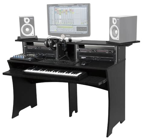 bureau pour studio photo glorious dj workbench walnut glorious dj station