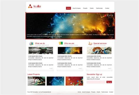 html website templates 40 well designed free html5 and css3 templates designrfix