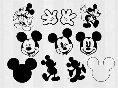 Mickey Svg Mouse Clipart Cut Disney Bundle