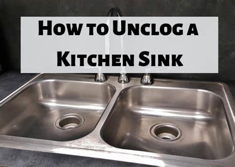 clear  clogged kitchen sink drain dengarden
