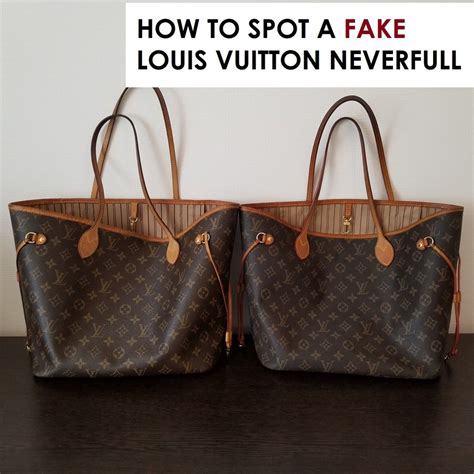 louis vuitton neverfull mm fake  real comparison thatll blow  mind