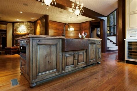 two level kitchen island designs easy ways to achieve the rustic kitchen look decor
