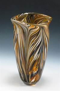 black gold peacock vase by rosenbaum glass