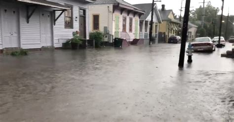 days before hurricane expected to hit new orleans city endures 10 inches of rain as mississippi