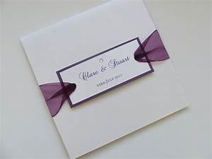 The cost of wedding invitations square white with purple for Cost of 200 wedding invitations