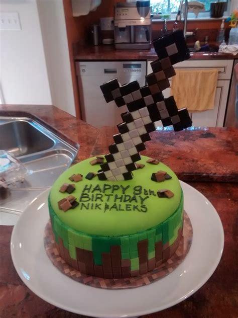 minecraft  sword cake cakecentralcom