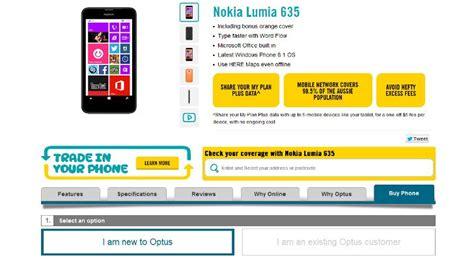nokia lumia 635 now available in australia via optus softpedia
