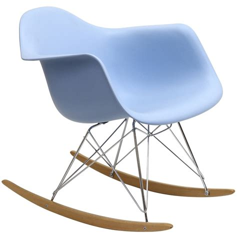 plastic molded rocking chair in blue from renegade eei