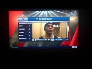 Awkward! Russell Westbrook interrupting Berry Tramel in ...