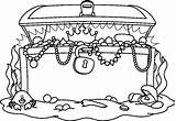 Treasure Chest Coloring Printable sketch template