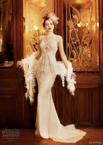 vintage inspired wedding dress yolancris 2011 revival vintage wedding dress collection wedding inspirasi