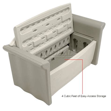 rubbermaid patio storage bench bins totes containers containers deck boxes