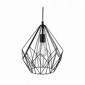 Lustre Suspension Design : lustre en metal noir suspension plafonnier cuisine marchesurmesyeux ~ Teatrodelosmanantiales.com Idées de Décoration