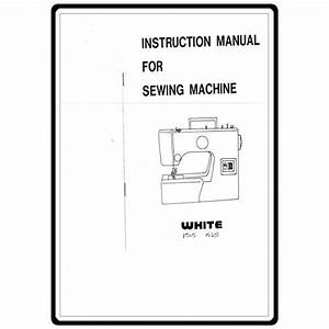 Instruction Manual  White 1525   Sewing Parts Online