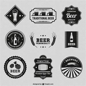 Vintage beer badges Vector   Free Download