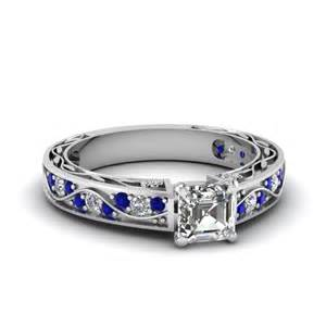 blue sapphire engagement rings white gold blue sapphire engagement rings fascinating diamonds